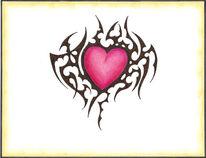 Zeichnung, Zeichnungen, Herz