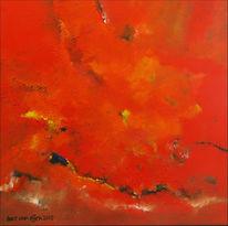 Acrylmalerei, Abstrakt, Malerei, Rot