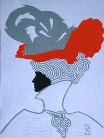 Grafik, Plakatkunst, Frau