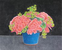 Stillleben, Pflanzen, Blumen, Zeichnungen