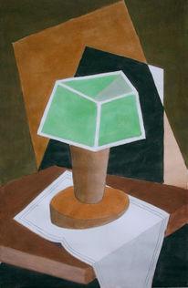 Malerei, Abstrakt, Lampe