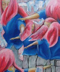 Acrylmalerei, Drehen, Kreis, Malerei