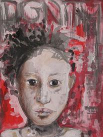 Weiblich, Circumcision, Acrylmalerei, Malerei