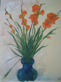 Stillleben, Malerei, Gladiolus