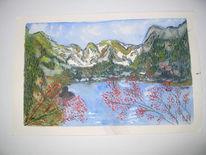 Landschaft, Malerei, Nord