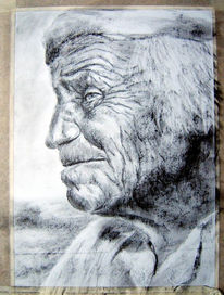 Portrait, Zeichnung, Zeichnungen, Mann