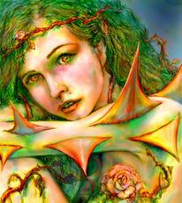 Rose, Thorn, Illustration, Zeichnungen