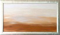 Malerei, Silber, Stille, Acrylmalerei
