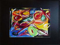 Abstrakt, Bunt, Malerei, Rahmen