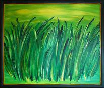 Rahmen, Malerei, Hell, Gras