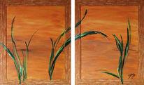 Malerei, Braun, Acrylmalerei, Grün
