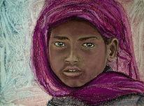 Malerei, Pastellmalerei, Zeichnungen, Indien