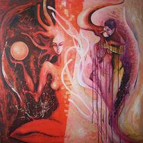 Atelier, Modern, Gemälde, Acrylmalerei
