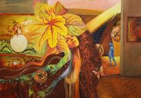 Gemälde, Meditation, Die gabe, Malerei