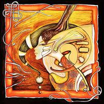 Limitierte auflage, Artist mongolia, Erotik, Acrylmalerei