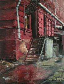 Verlassen, Gebäude, Fabrik, Landschaft