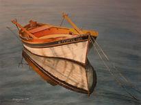 Wasser, Stillleben, Malerei, Boot