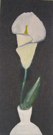 Malerei, Calla, Blumen, Pflanzen