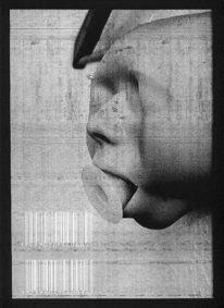 Maske, Fotogramm, Metaphysisch, Surreal