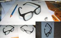 3d, Brille, Perspektive zeichnen, Zeichnungen