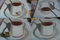 Tasse, Zeichnung, 3d, Tee