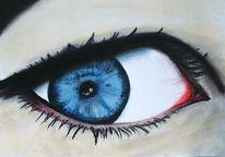 Augen, Pupille, Malerei, Portrait