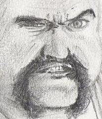 Zeichnung, Mann, Hässlichkeit, Portrait
