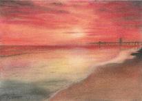Meer, Wasser, Malerei, Landschaft