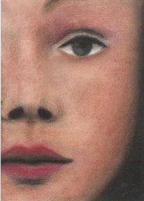 Portrait, Gesicht, Zeichnung, Frau
