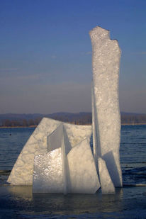 Eis, Skulptur, Fotografie, Konzept