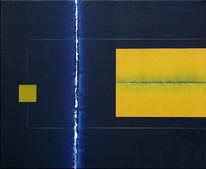 Raum, Malerei, Gelb, Blau
