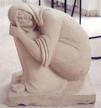 Skulptur, Stein, Skulpturen stein, Frau