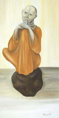 Figural, Malerei, Mönch