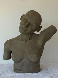 Ton, Skulptur, Skulpturen ton, Sonne