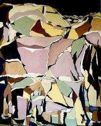 Stein, Malerei, Abbruch, Felsen