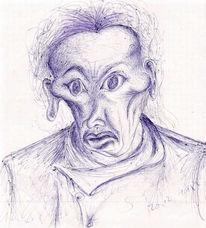Portrait, Zeichnung, Zeichnungen, Seele
