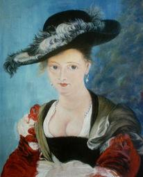 Frau, Malerei, Menschen,
