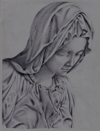 Madonna, Statue, Zeichnung, Mutter