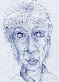 Zeichnung, Portrait, Zeichnungen, Seele