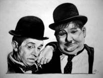 Stan laurel, Oliver hardy, Dick und doof, Portrait