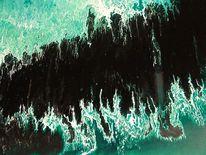 Abstrakt, Malerei, Verlauf, Ausschnitt