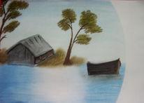 Idylle, Pastellmalerei, Pinnwand,