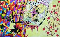 Gelb, Clown, Farben, Fantasie