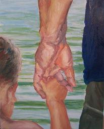 Vertrauen, Malerei, Figural, Kind