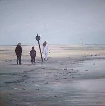 Lang, Landschaft, Nordsee, Strand