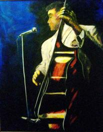 Malerei, Figural, Jazz, Bass