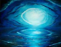 Fantasie, Abstrakt, Wolken, Blau