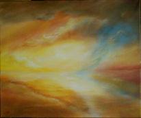 Wasser, Malerei, Blitz, Spiegelung