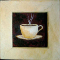 Stillleben, Tasse, Malerei, Kaffee