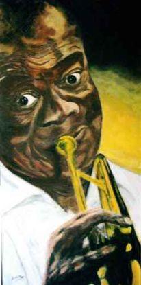 Musik, Figural, Satchmo, Portrait